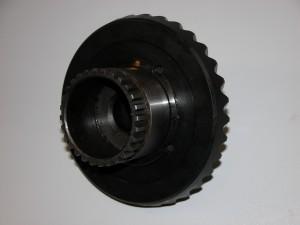 Repariertes Tellerrad des BMW Motorrad Antriebes