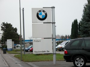 Schild BMW Motorrad Fallert