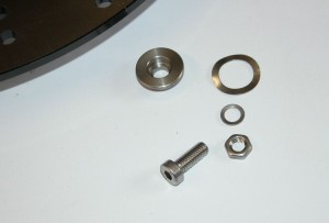 Schrauben und Spacer sowie Beilagscheiben für die BMW Motorrad Zubehör-Bremsscheibe