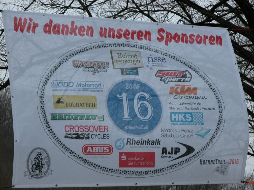 Sponsoren beim Hönnetrail 2016