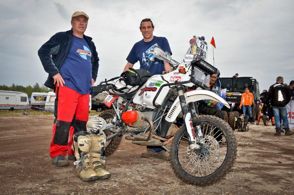 Dreamteam mit dem Boxer Motorrad auf der Baja Deutschland 2016