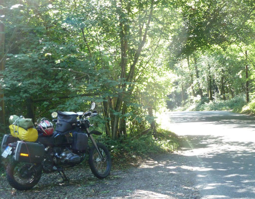 Mit der BMW Motorrad in England