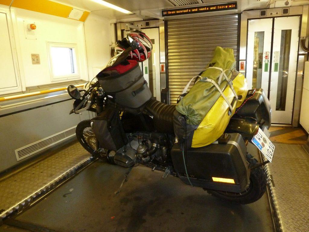 Der Boxer im Tunnelzug nach England