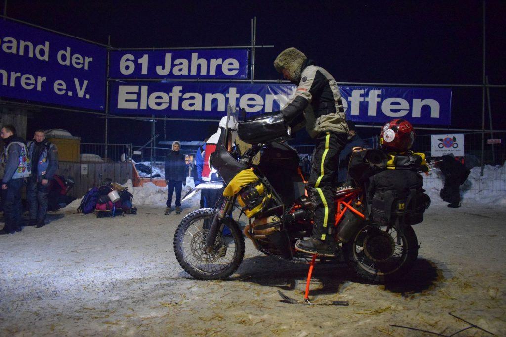 Winterbike mit Kufen fürs Elefantentreffen 2017