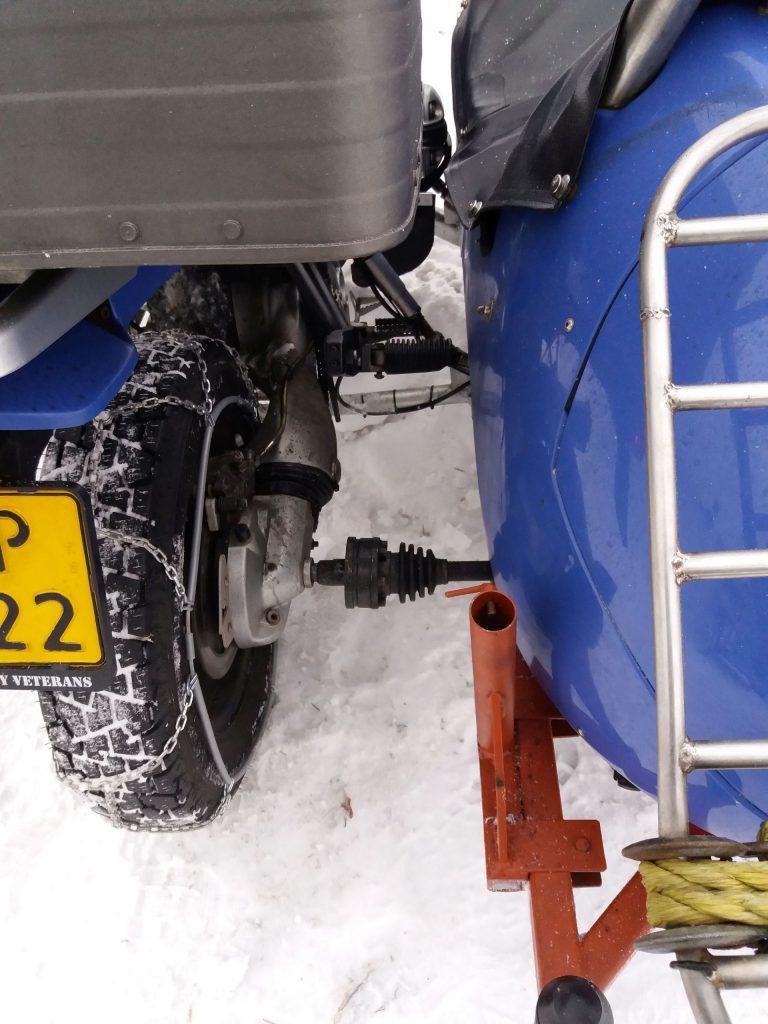 Beiwagenantrieb beim BMW Motorrad Gespann