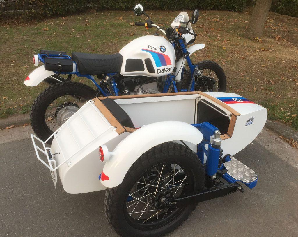 BMw Motorrad Gespann mit selbst gemachten Beiwagen