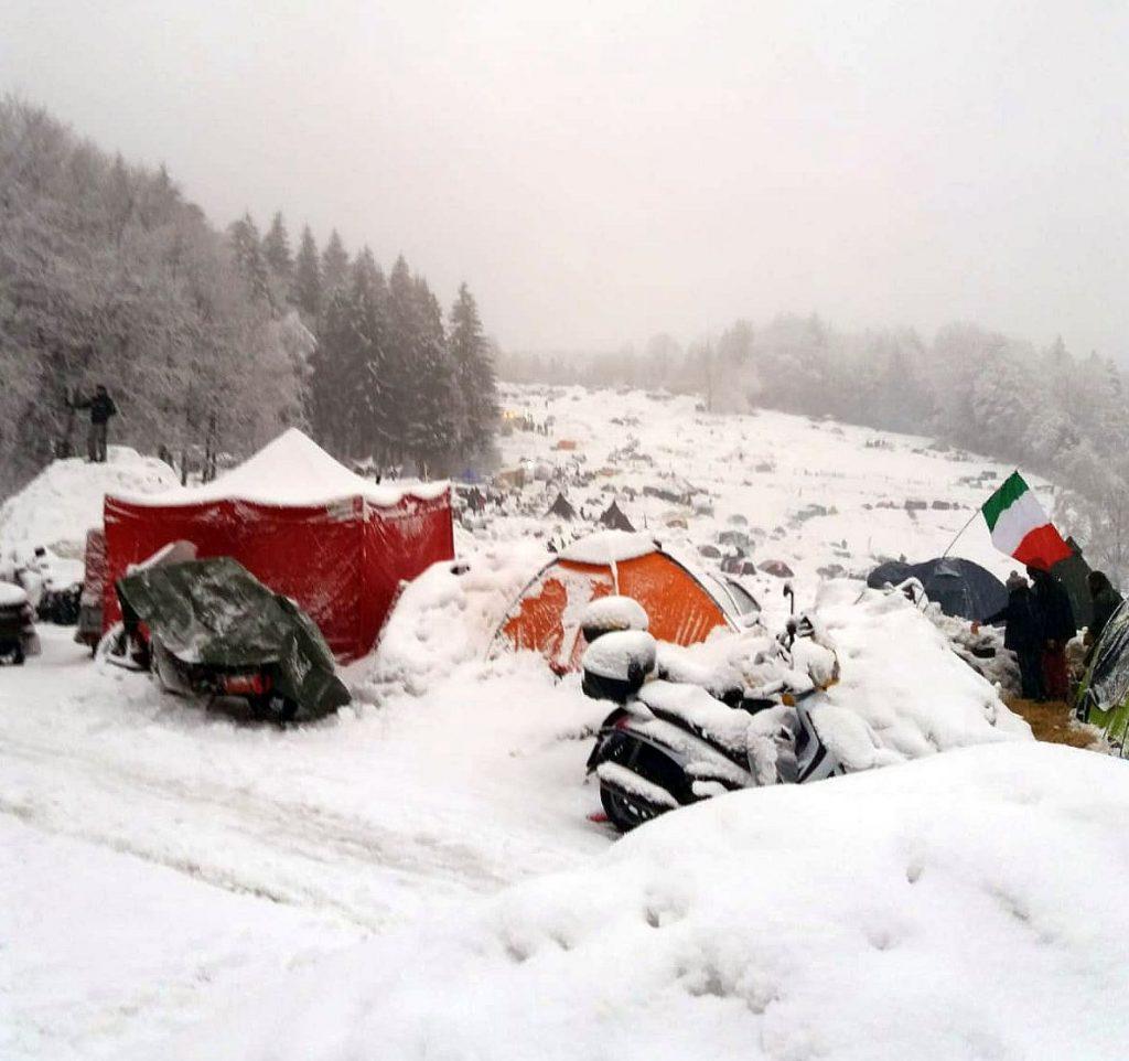 Viel Schnee in Solla beim E-Treffen